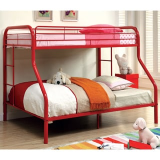 Furniture of America Linden Twin Over Full Metal Bunk Bed (Option: Orange)
