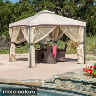 Skyline Fabric Gazebo by Christopher Knight Home|https://ak1.ostkcdn.com/images/products/P16106815a.jpg?impolicy=medium