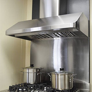 "KOBE CH9148SQB-WM-5 Deluxe 48"" Wall Mount Range Hood, 6-Speed, 650 CFM, LED Lights, Baffle Filters"
