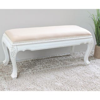 International Caravan Windsor Carved Vanity Bench