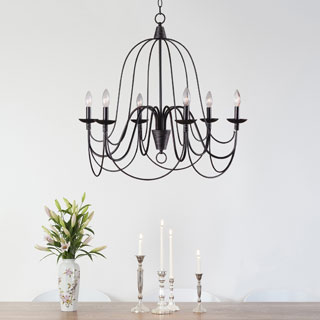 Clay Alder Home Mears Blackened Oil Rubbed Bronze 6-light Chandelier