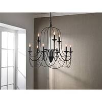 Copper Grove Fraleigh 9-light Bronze Chandelier