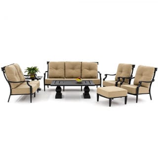 St. Charles7-piece Cast Aluminum Deep Seating Patio Furniture