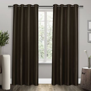 ATI Home Shantung Thermal Insulated Grommet Top Curtain Panel Pair - N/A