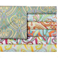 Shop Expressions Solid Or Printed Pattern Easy Care Sheet Set Free - Orange print sheets