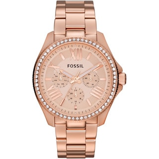 Fossil Women's AM4483 'Cecile' Rosetone Stainless Steel Chronograph Watch