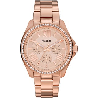 Fossil Women's 'Cecile' Rosetone Stainless Steel Chronograph Watch