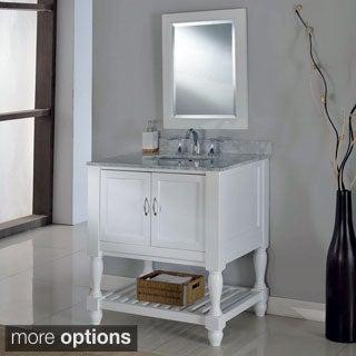 Direct Vanity 32-inch Pearl White Mission Turnleg Spa Single Vanity Sink Cabinet
