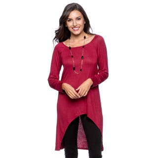 24/7 Comfort Apparel Women's High-low Long Sleeve Tunic Top|https://ak1.ostkcdn.com/images/products/P16147130jt.jpg?impolicy=medium