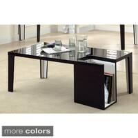 Furniture of America Ziyon Duotone Magazine Rack Coffee Table