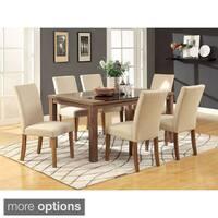 Furniture Of America Sundrey Transitional Light Oak 7-piece Contemporary Dining Set