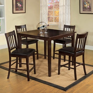 Furniture of America Espresso West Creston Creek 5-piece Counter Height Dining Set