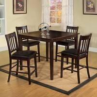 Furniture of America Espresso West Creston Creek 5-piece Counter Height Dining Set