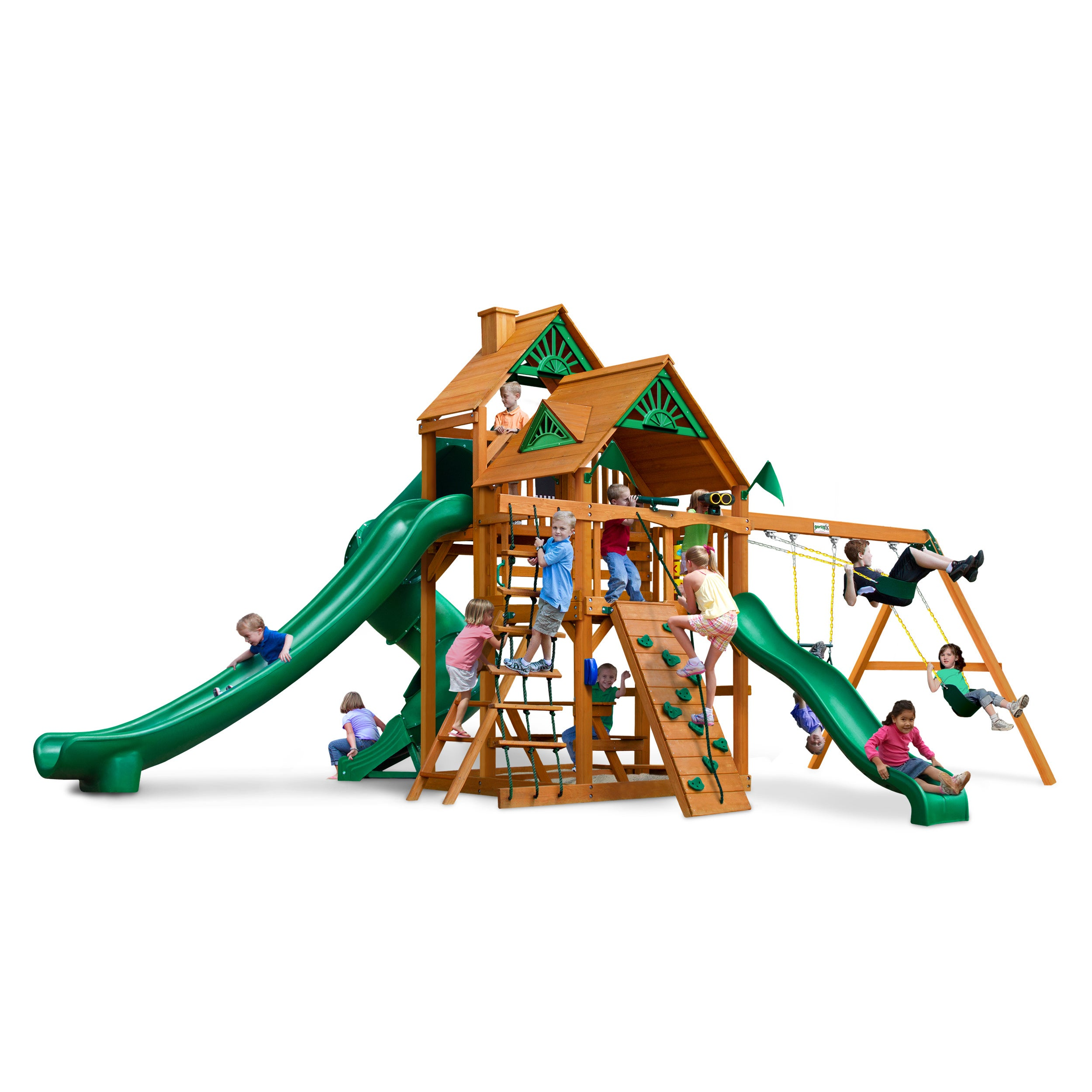 Gorilla Playsets Great Skye II AP Deluxe Cedar Swing Set