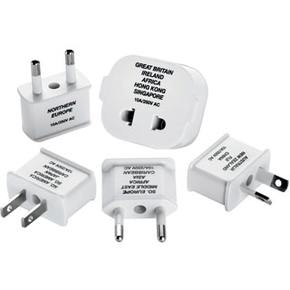 Travel Smart Polarized Adapter Plug 5pc Set