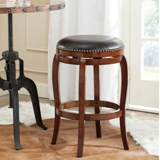 Safavieh Nuncio Walnut/ Brown 29-inch Bar Stool