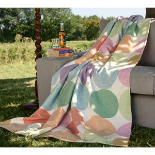 IBENA Cotton Pure Candy Colored Dots Jacquard Throw