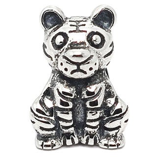 De Buman Sterling Silver Tiger Charm Bead