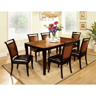 Saldi Acacia Wood/ Black 7-piece Dining Set