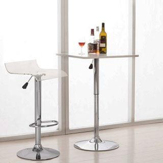 Transparent Hydraulic-lift Adjustable Bar Stools (Set of 2)