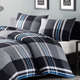 Ink+Ivy Nathan 3-piece Duvet Cover Set