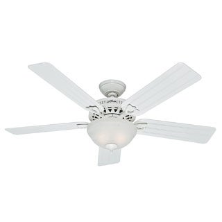 Hunter 52-inch Beachcomber White Ceiling Fan