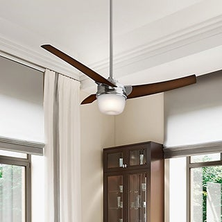 Hunter Fan - 54-inch Eurus Brushed Nickel with Three Coffee Beech Veneer Blades