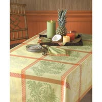 Tommy Bahama Pineapple Yellow Cotton Jacquard Tablecloth