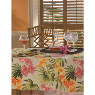 Tommy Bahama Linen Blend African Orchid Tablecloth (3 options available)