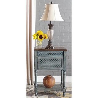 Tempe 1-light Ribbed Glass Table Lamp