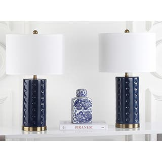 Safavieh Lighting 26-inch Navy Roxanne Table Lamp (Set of 2)|https://ak1.ostkcdn.com/images/products/P16240797w.jpg?impolicy=medium