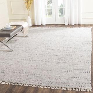 Safavieh Hand-woven Rag Rug White Cotton Rug (6' Square)