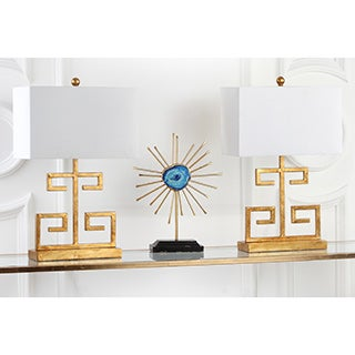 Safavieh Lighting 24-inch Gold Greek Key Table Lamp (Set of 2)