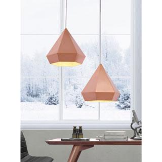 Forecast Single-light Rose Gold Ceiling Lamp - Rose Gold