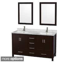 Wyndham Collection Sheffield 60-inch Espresso Double Vanity