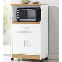 Microwave 2-door Wood Cart Stand