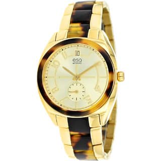 ESQ by Movado Women's 07101426 'Origin' Tortoise and Gold-Tone Swiss Quartz Watch|https://ak1.ostkcdn.com/images/products/P16261857a.jpg?impolicy=medium
