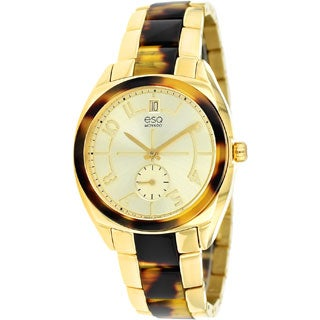 ESQ by Movado Women's 07101426 'Origin' Tortoise and Gold-Tone Swiss Quartz Watch