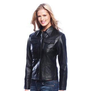 Tanners Avenue Women's Leather Shirt Jacket