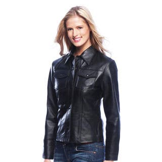Women's Leather Shirt Jacket|https://ak1.ostkcdn.com/images/products/P16273580m.jpg?impolicy=medium