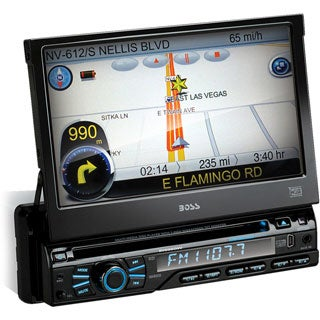 BOSS AUDIO BV9980NV Single-DIN 7 inch Motorized Touchscreen DVD Playe