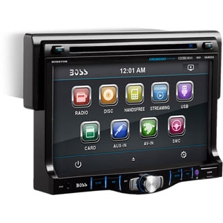 Boss Audio BV8970B Single-DIN 7 inch Touchscreen DVD Player Receiver,