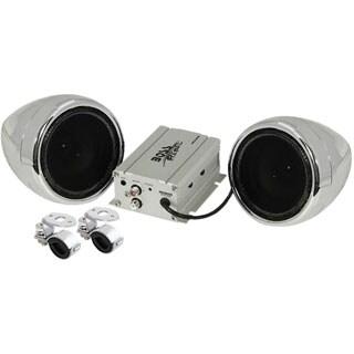 BOSS AUDIO MC420B Chrome 600 watt Motorcycle/ATV Sound System with Bl