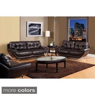 Furniture of America Volosi Leatherette 2-piece Sofa Set
