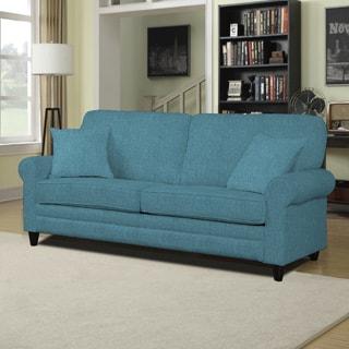 Handy Living Bradley Caribbean Blue Linen SoFast