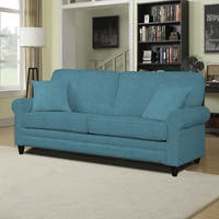 Clay Alder Home Pope Street Blue Linen Sofa