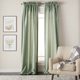 Heritage Landing 108-inch Faux Silk Lined Curtain Panel Pair