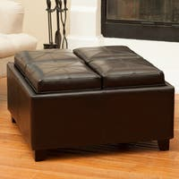 Rubik Tray Top Storage Ottoman by Christopher Knight Home