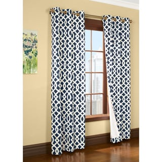 Trellis Printed Thermal Insulated Curtain Panel