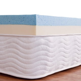 Priage 4-Inch Dual-layered Support Gel Memory Foam Mattress Topper